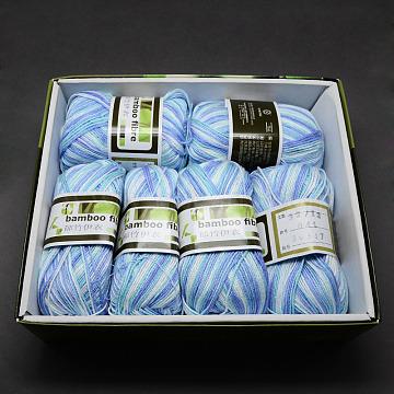 1mm LightSkyBlue Bambaoo Fiber+Silk Thread & Cord