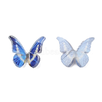Plastic Cabochons, Butterfly, Blue, 9.5x11x3mm(X-KY-T015-19)