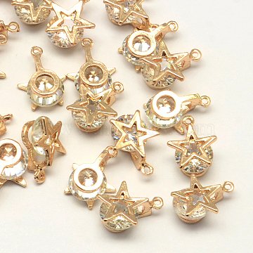 Light Gold Star Cubic Zirconia Charms
