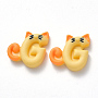 Champagne Yellow Mouse Resin Cabochons(X-CRES-N024-08)
