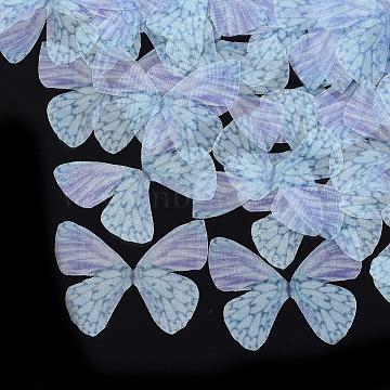 Organza Fabric, For DIY Jewelry Making Crafts, Butterfly, MediumPurple, 40.5x49mm(X-FIND-S317-05)