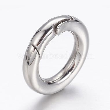 304 Stainless Steel Spring Gate Rings(X-STAS-D070-01P-1)-3