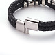 Retro Braided Leather Cord Bracelets(BJEW-L642-39)-4