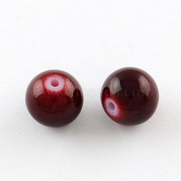 6mm Brown Round Glass Beads