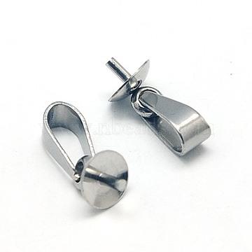 304 подвески из нержавеющей стали, за половину пробурено бисера, 12.5x5 mm, контактный: 1 mm, отверстия: 2.5 mm(X-STAS-E031-2)
