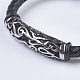 Men's Braided Leather Cord Bracelets(BJEW-P194-02)-3