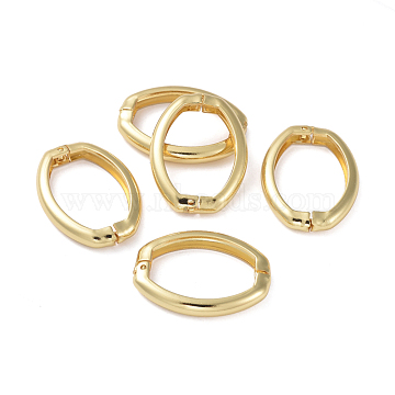 Brass Shortener Clasps, Twister Clasps, Long-Lasting Plated, Oval Ring, Real 18K Gold Plated, 27x20x4mm(ZIRC-G160-07G)