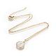 Brass Initial Pendant Necklaces(NJEW-I230-24G-J)-1