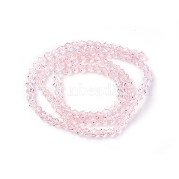 4mm Pink Cone Glass Beads