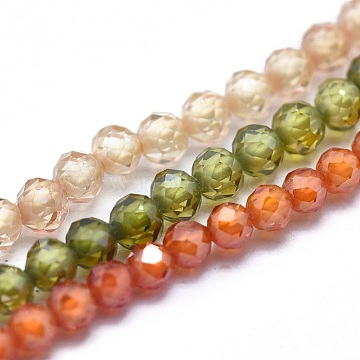 2mm Mixed Color Round Cubic Zirconia Beads