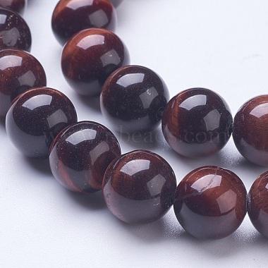 Natural Red Tiger Eye Beads Strands(G-D855-04-10mm)-3
