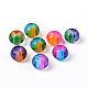 Spray Painted Glass European Beads(X-DGLA-R016-12mm-M)-1