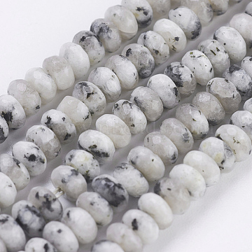 4mm Rondelle Snowflake Obsidian Beads