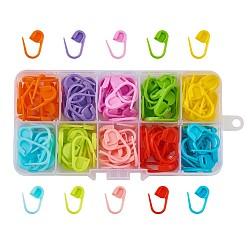 tricot plastique, porte-marqueurs au crochet, couleur mélangée, 22x11x3 mm; sur 120 pcs / boîte(KY-TA0001-07)