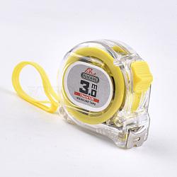 Ruban à mesurer en fer autobloquant, outil de mesure, avec du plastique, jaune, 3 m (10 pieds); 60x60x37.5 mm(TOOL-S010-07)
