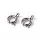 304 Stainless Steel Spring Ring Necklace End Clasps(STAS-G170-01P)-1