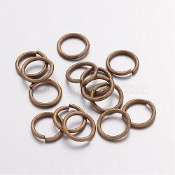 Anneaux de jonction en laiton, bronze antique, environ 8 mm de diamètre, 1 mm d'épaisseur; environ 6 mm de diamètre intérieur(X-JRC8MM-AB)