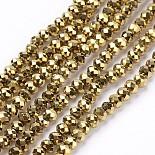 4mm Rondelle Glass Beads(X-EGLA-R080-3mm-02)