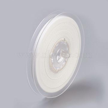 Rayon and Cotton Ribbon, Twill Tape Ribbon, Herringbone Ribbon, White, 5/8inch(16mm); about 50yards/roll(45.72m/roll)(SRIB-F007-000-16mm)