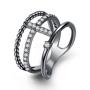 White Brass+Cubic Zirconia Finger Rings