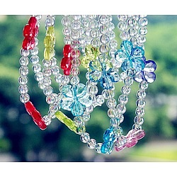 Transparent Acrylic Necklaces, Kids Jewelry, Mixed Color, Size: Necklaces: about 16inches long(X-NJEW-JN00162)