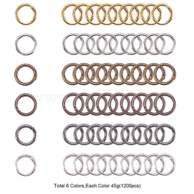 PandaHall Elite Iron Close but Unsoldered Jump Rings(IFIN-PH0023-16-5mm)-3