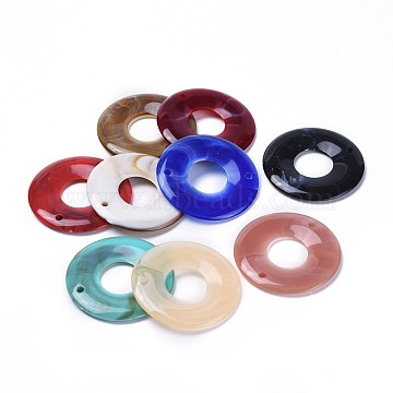 43mm Mixed Color Donut Acrylic Connectors/Links