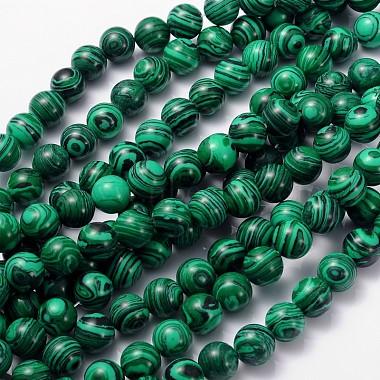10mm Green Round Malachite Beads