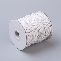 Waxed Cotton Thread Cords, White, 1.5mm; about 100yards/roll(300 feet/roll)(YC-R003-1.5mm-101)