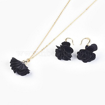 Black Cloth Earrings & Necklaces