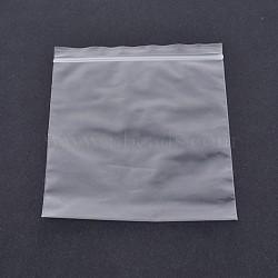 Sacs en plastique à fermeture éclair sur le dessus, sacs d'emballage refermables, rectangle, clair, 7x5cm; épaisseur bilatérale: 0.1mm; environ 100pcs / sac(OPP-O002-5x7cm)