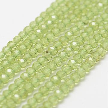3mm Round Peridot Beads