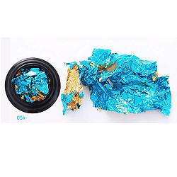 Stickers autocollants à double clinquant nail art, auto-adhésif, autocollant, pour les décorations d'ongles, bleu foncé, emballage: 35x10mm(MRMJ-K007-H05)