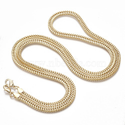 Bag Strap Chains, Brass Coated Iron Chains, with Lobster Claw Clasps, Light Gold, 123x0.7x0.3cm(MAK-T006-09)