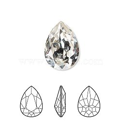 Austrian Crystal Rhinestone, 4320, Crystal Passions, Foil Back,  Faceted Pear Fancy Stone, 001_Crystal, 18x13x5mm(X-4320-18x13mm-001(F))
