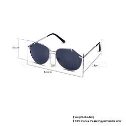 модные женские солнцезащитные очки, рамы из сплавов и смоляные линзы, серый, 14.4x5.5 cm(SG-BB22115-2)