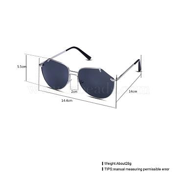 Trendy Women Sunglasses, Alloy Frames and Resin Lenses, Gray, 14.4x5.5cm(SG-BB22115-2)