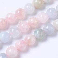 """Chapelets de perles en morganite naturelle, rond, 8mm, trou: 1mm; environ 49 pcs/chapelet, 15.3"""" (39 cm)(G-F568-190-8mm)"""