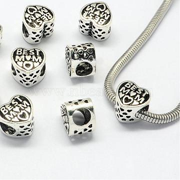 12mm Heart Alloy Beads