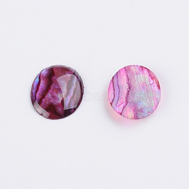 Dyed Oval Abalone Shell/Paua Shell Cabochons(X-SSHEL-K002-10x8mm-01)-2