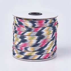 Polycotton(Polyester Cotton) Cords, Flat, Colorful, 8x1mm; about 50yards/roll(45.72m/roll), 150 feet/roll(OCOR-F008-A02)