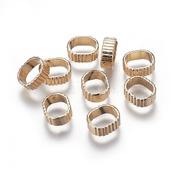 Alloy Slide Charms, Oval, Light Gold, 12x10x4.5mm, Hole: 7.5x9.5mm(PALLOY-E502-01G-AAA)