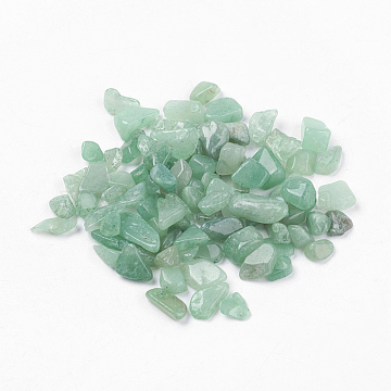Natural Green Aventurine Beads, No Hole/Undrilled, Chips, 5~8x2~5mm, about 50g/bag(G-J370-03)
