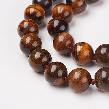 Natural Tiger Eye Beads Necklaces(NJEW-F138-8mm-02)-2