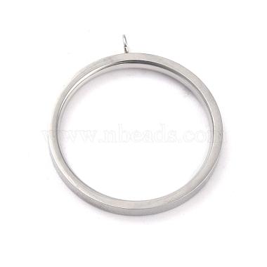 304 paramètres d'anneau de doigt en acier inoxydable(RJEW-O045-09C-P)-1