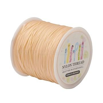 Nylon Thread, Wheat, 0.8mm; about 98.43yards/roll(90m/roll)(NWIR-JP0009-0.8-180)