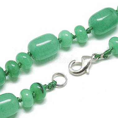 Natural Malaysia Jade Beaded Necklaces(NJEW-S390-22)-2