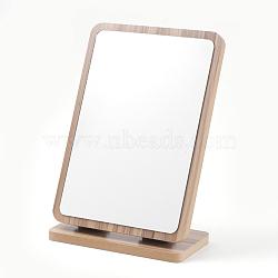 Wooden Mirrors, Rectangle, BurlyWood, 19x10x27.5cm(MJEW-F001-01-A)