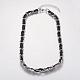Iron Double Link Chain Necklaces(NJEW-J023-14P)-1