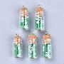Medium Sea Green Bottle Glass Decoration(GLAA-S181-07G)